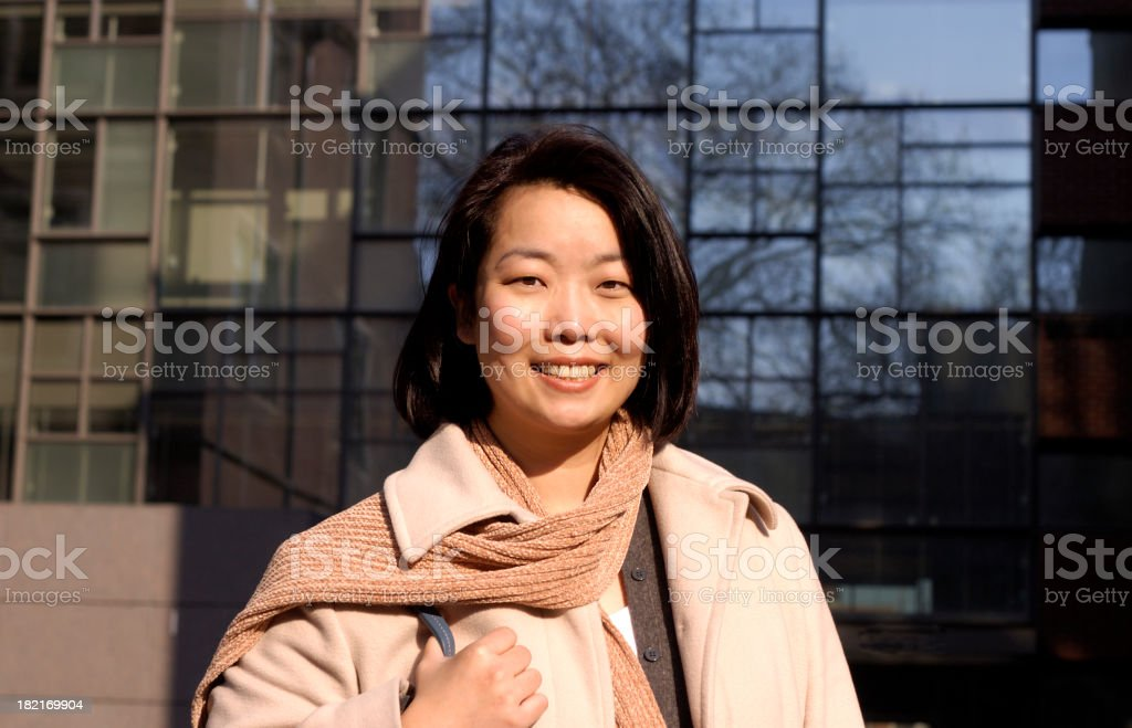 Asian working woman royalty-free stock photo