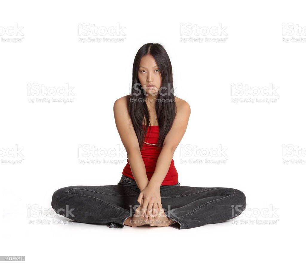 asian yoga girl royalty-free stock photo