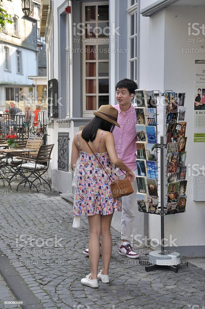 asian young couple stock photo