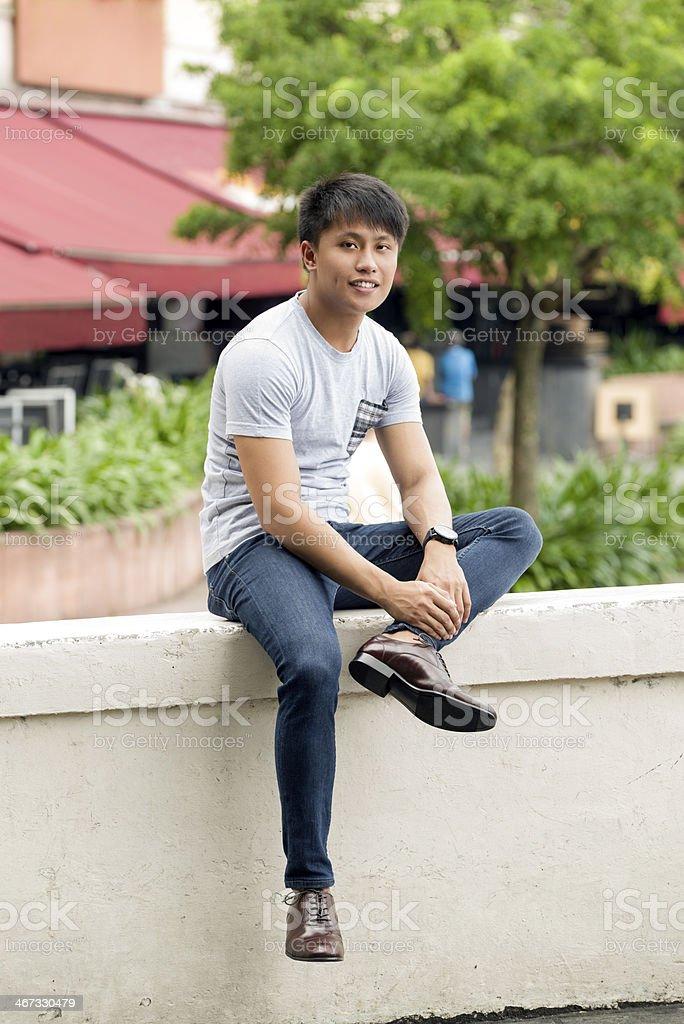 Asian Young Man royalty-free stock photo