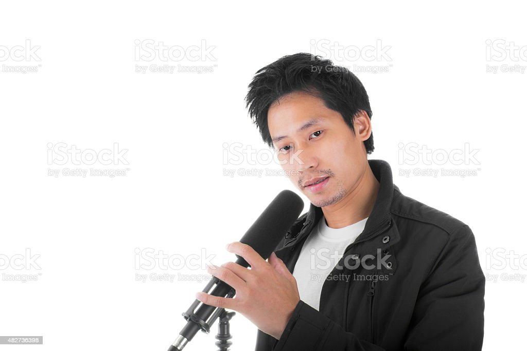 Asian Young Singer royalty-free stock photo