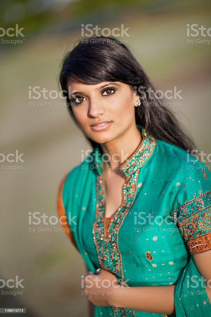 Asian/Indian Woman Wearing Traditional Clothing royalty-free stock photo