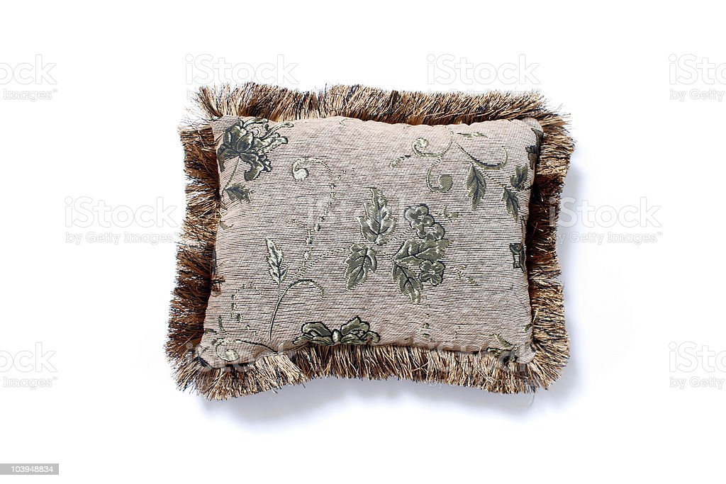 Asian-Style Throw Pillow Isolated on White Background royalty-free stock photo