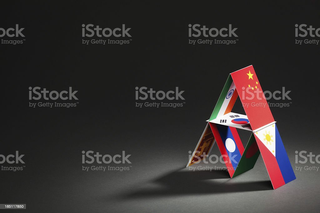 Asia-Pacific Trade Agreement APTA House of Cards Hz royalty-free stock photo