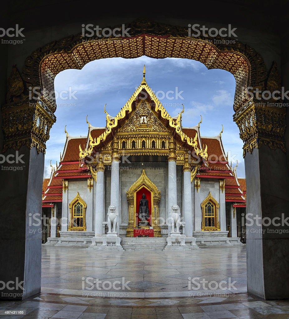 Asia,The Marble Temple ( Wat Benchamabophit ), Bangkok, Thailand stock photo