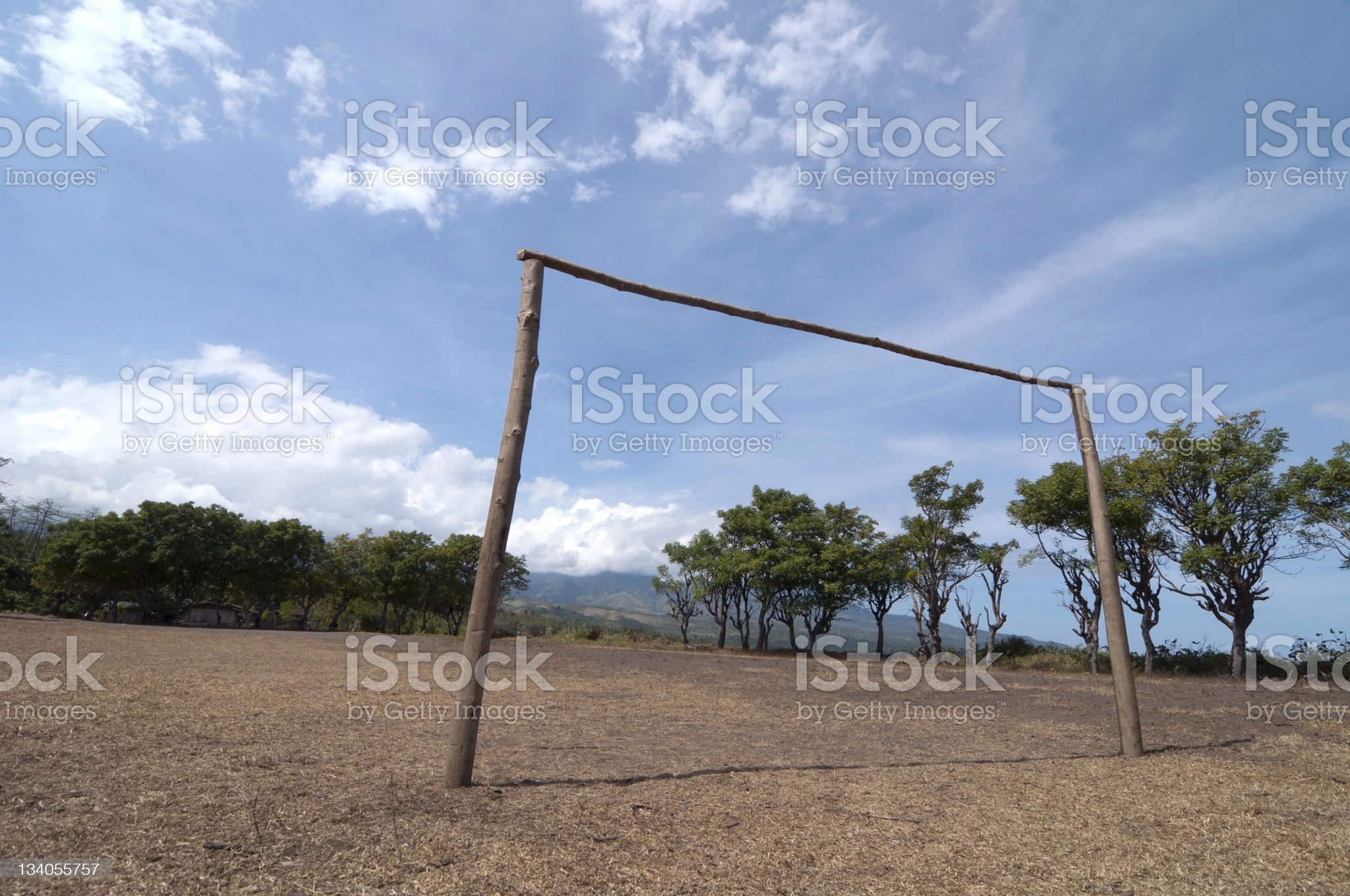 Asiatic soccer field with goal royalty-free stock photo