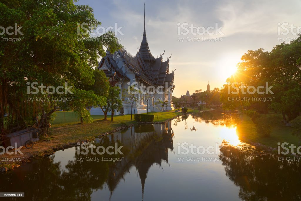 Asiatic temple in Thailand stock photo