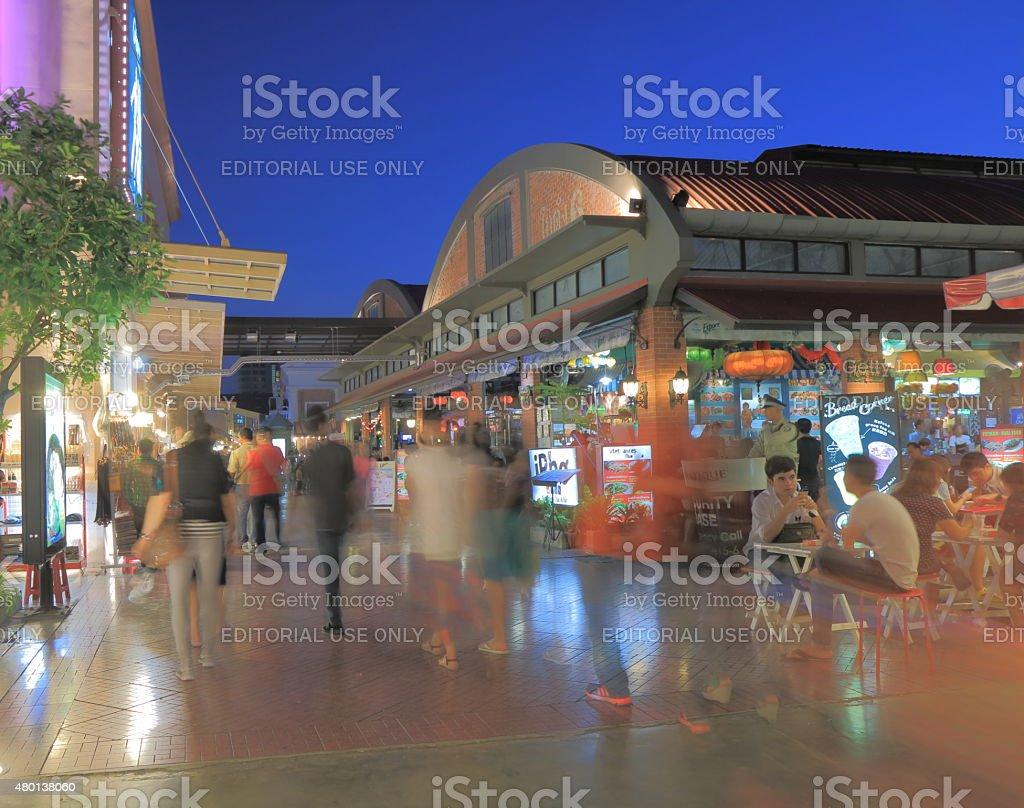Asiatique Bangkok shopping stock photo