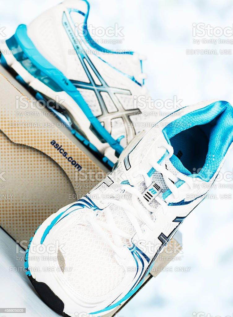Asics Kayano 18 Women's Running Shoes royalty-free stock photo