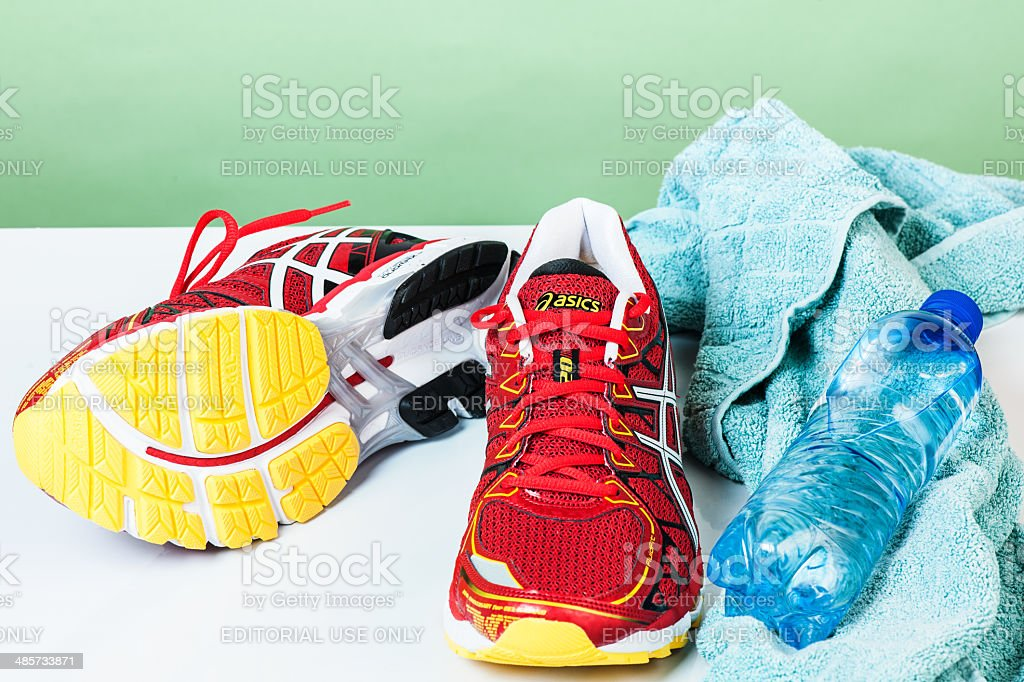 Asics Kayano Gel 20 Male Running Shoes royalty-free stock photo