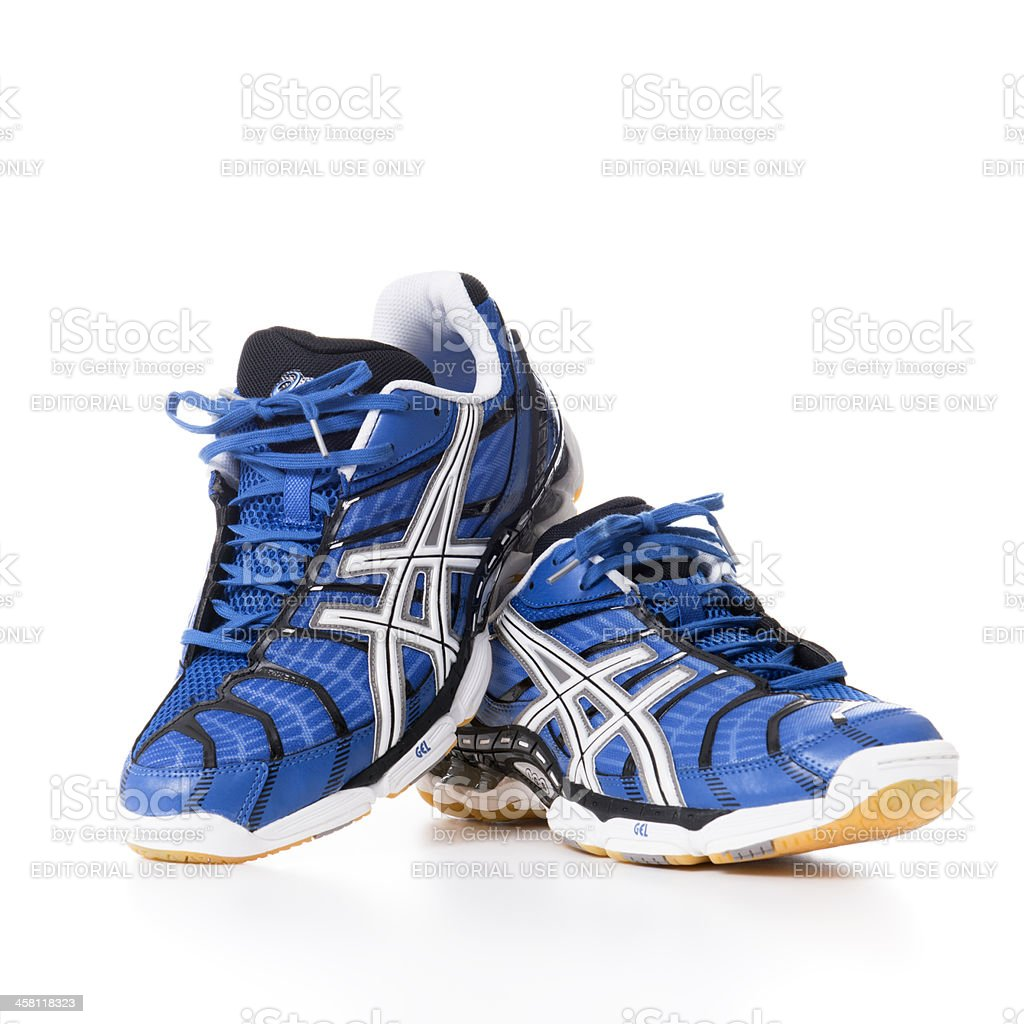 Asics Volley sport shoes royalty-free stock photo