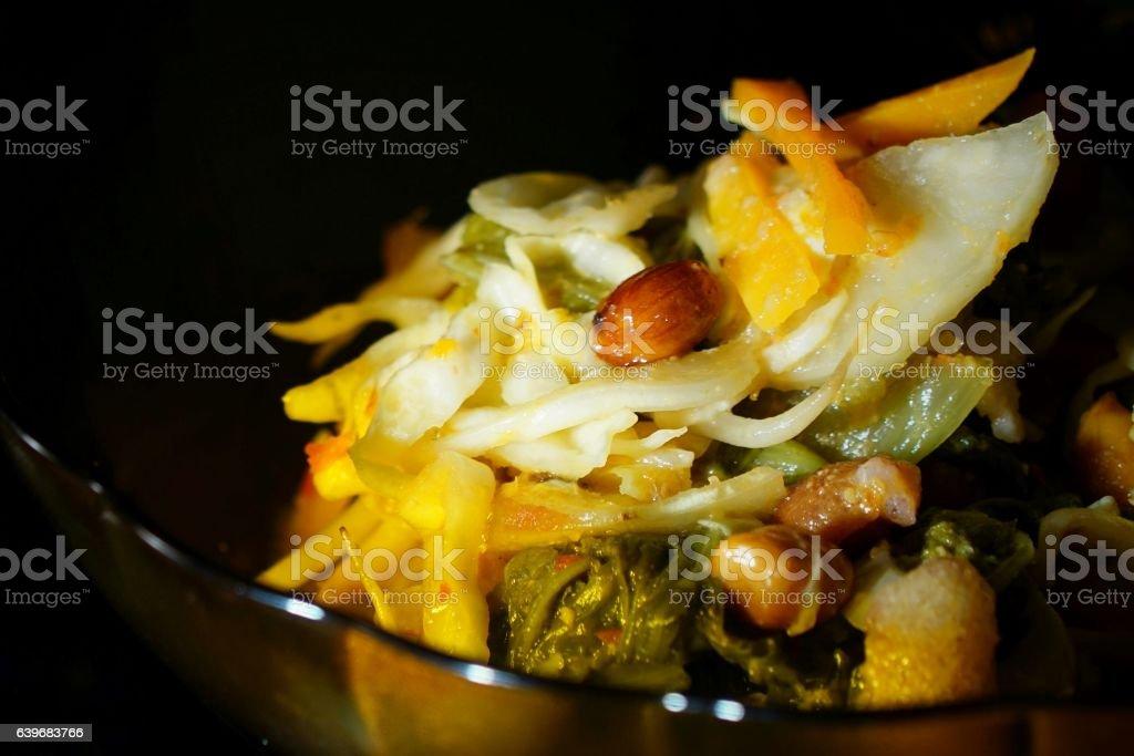 Asinan Bogor or Bogor pickles stock photo