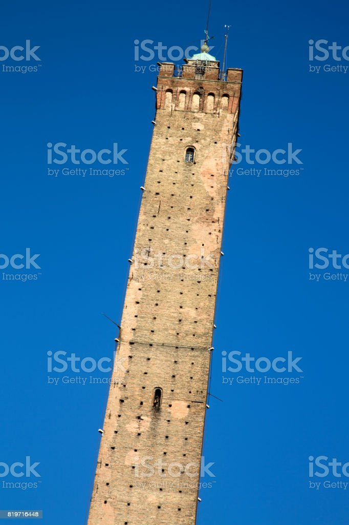 Asinelli Tower of Bologna stock photo