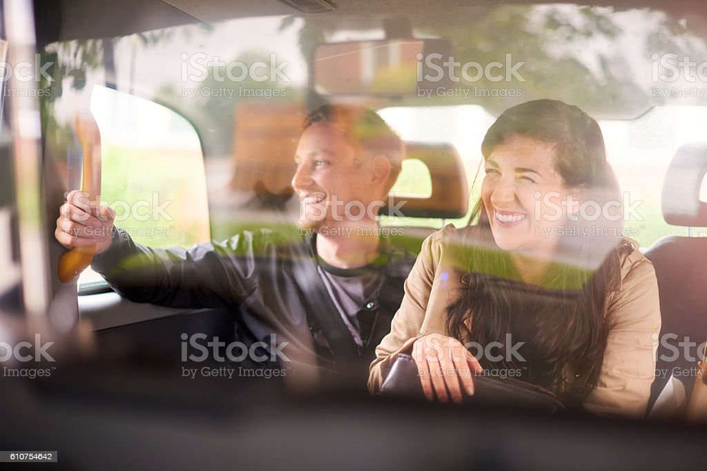 ask a taxi driver stock photo