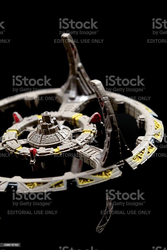Askew in Space stock photo