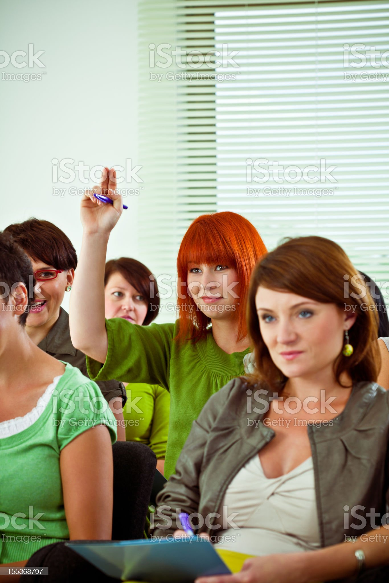 Asking a question royalty-free stock photo