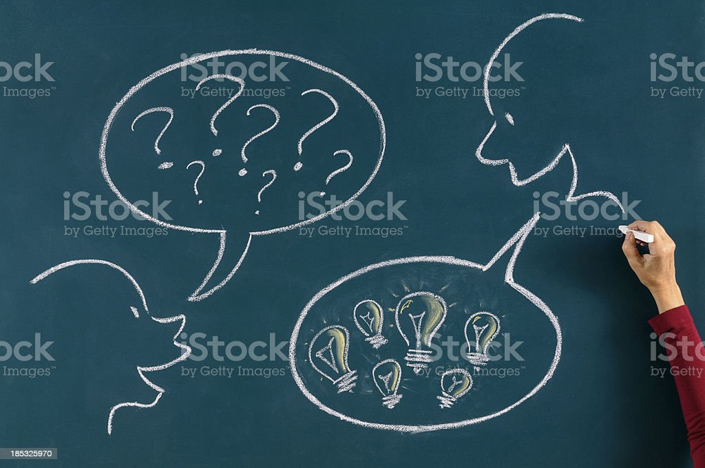 Asking and Solution Concept royalty-free stock photo