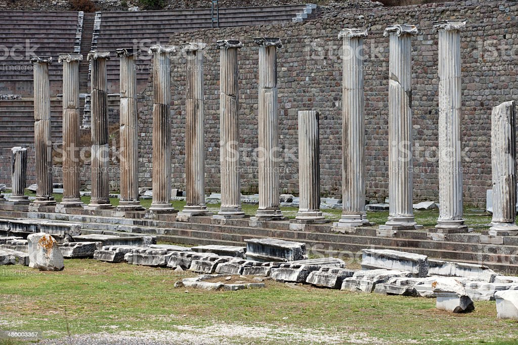 Asklepion in Pergamon. royalty-free stock photo