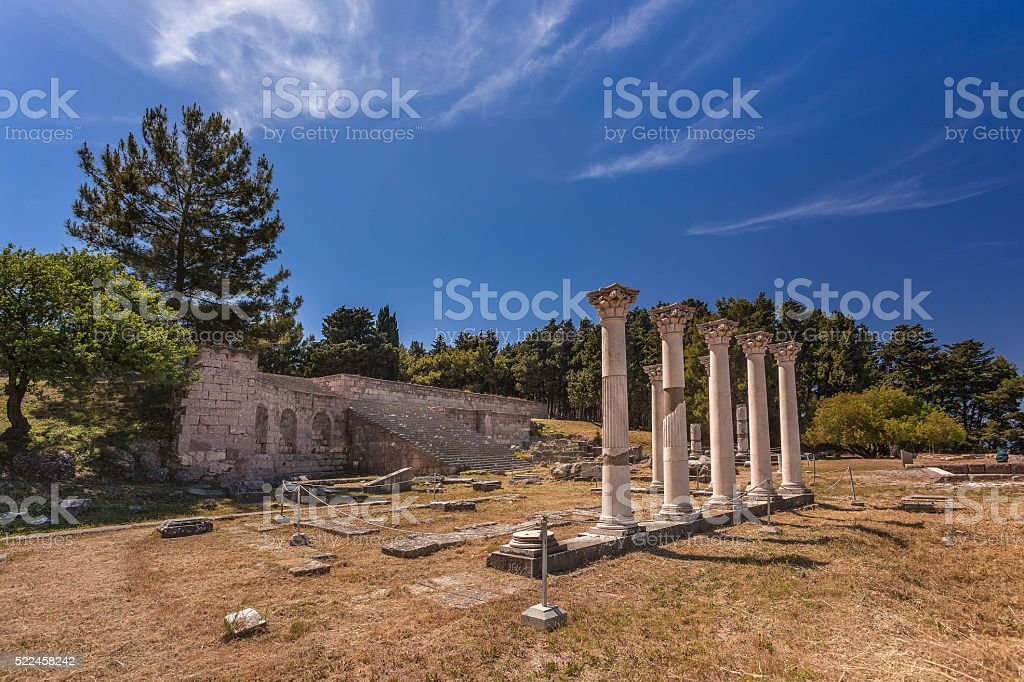 Asklepion, Kos island, Greece. stock photo