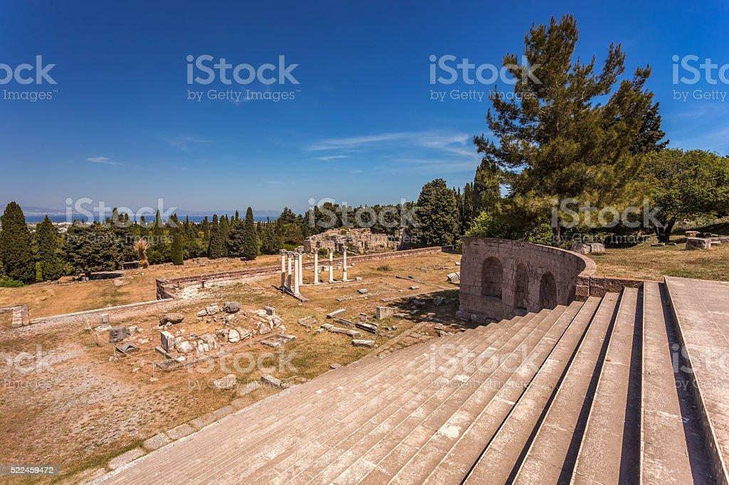 Asklepion, Kos island, Greece. stock photo