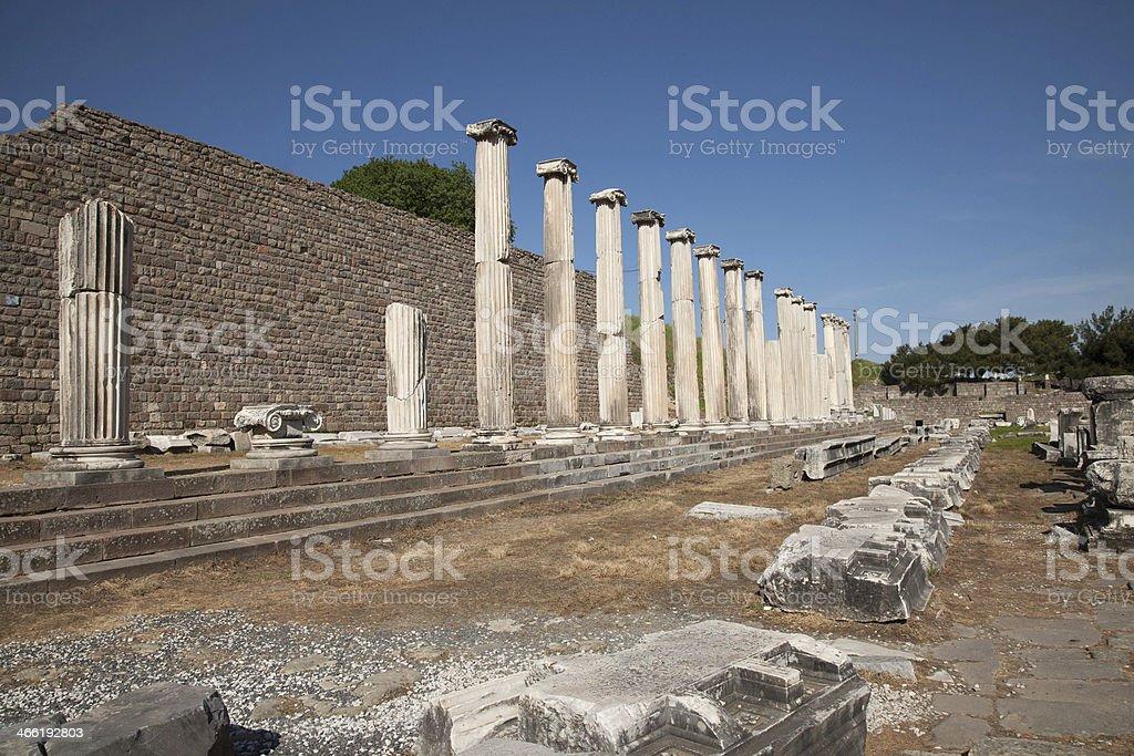 asklepion temple of trajan bergama izmir turkey stock photo
