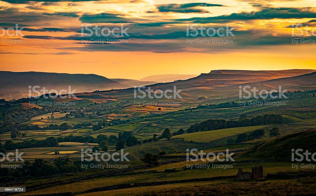 Askrigg in Wensleydale North Yorkshire stock photo