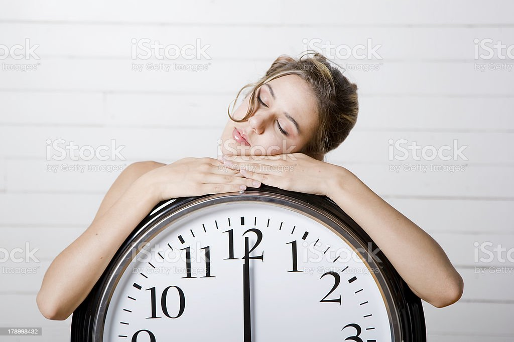 Asleep at Midnight stock photo
