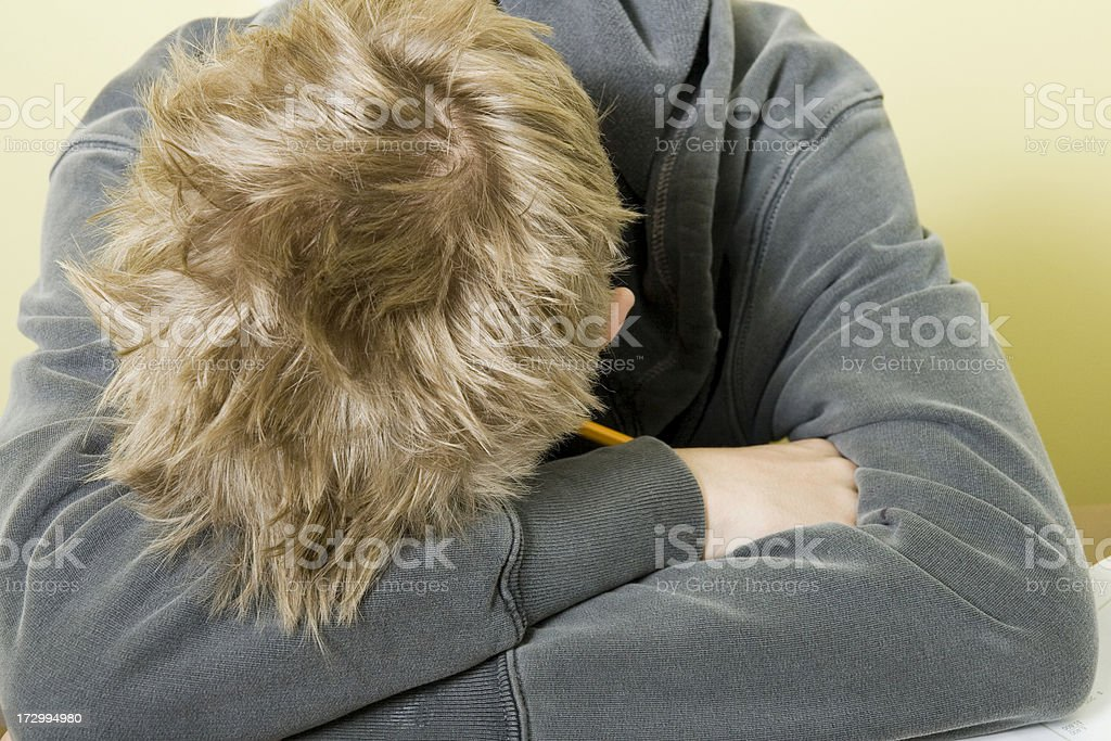 Asleep in Class stock photo