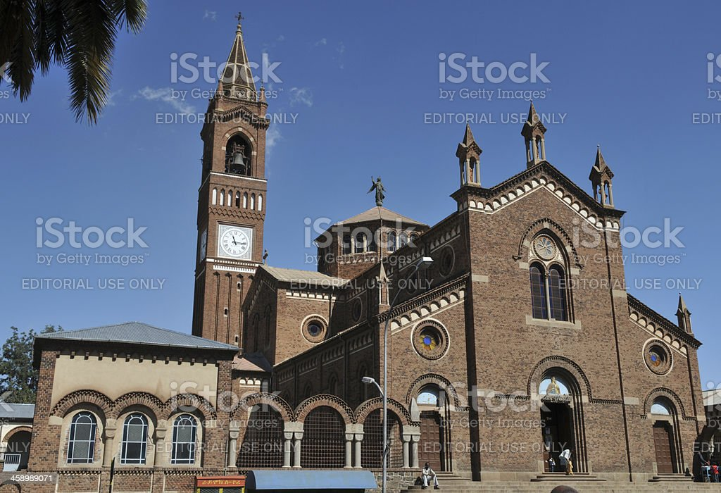 Asmara, Eritrea, Catholic Cathedral stock photo