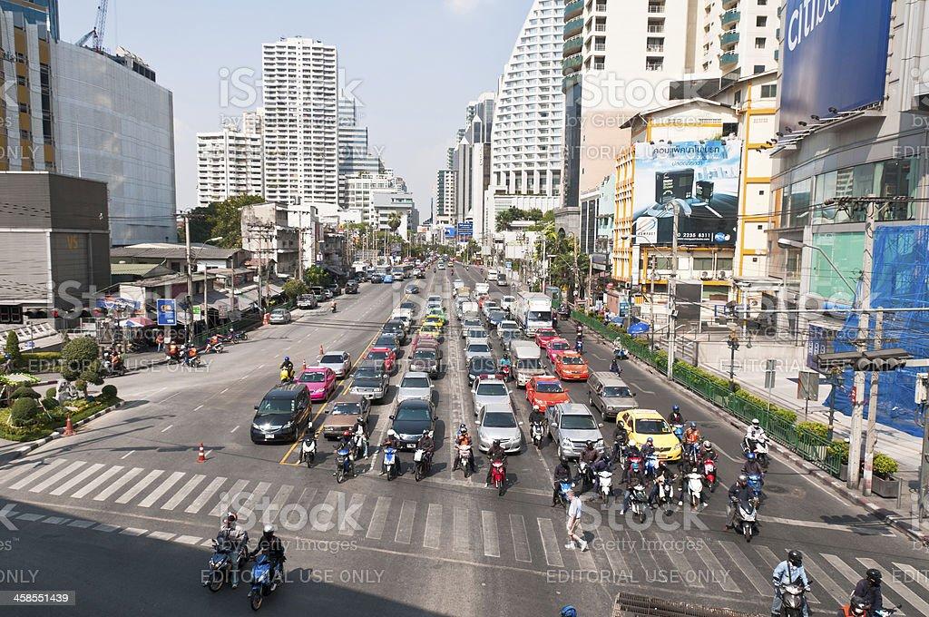 Asoke Junction In Bangkok stock photo