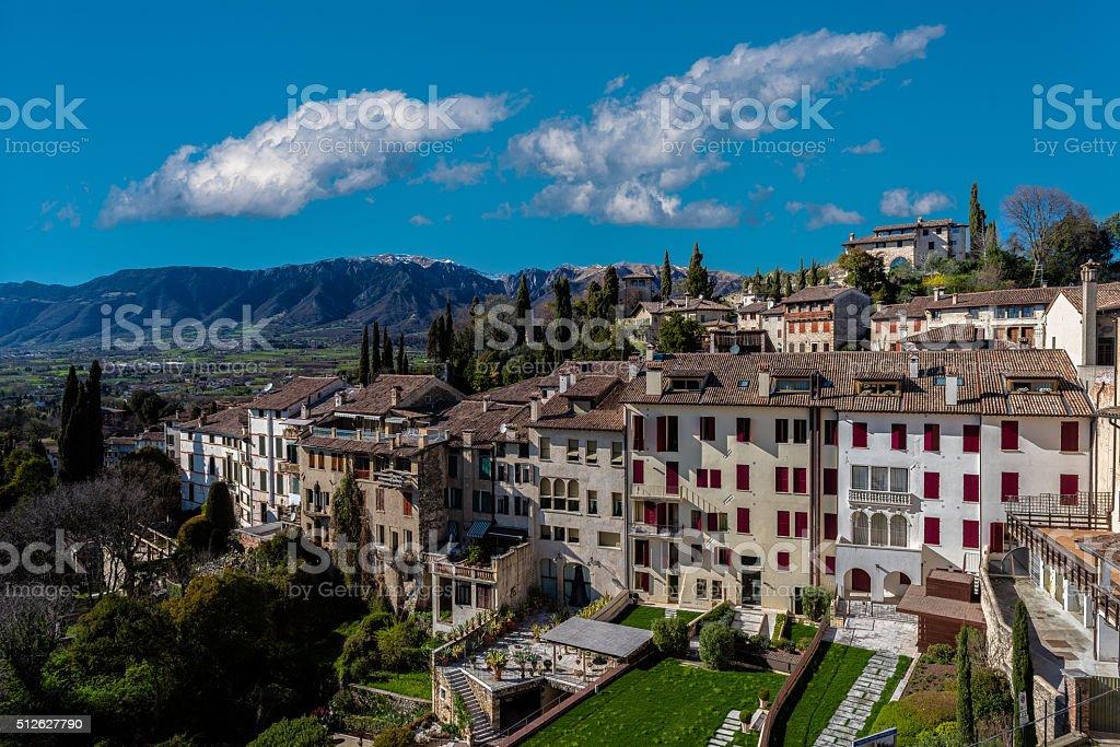 Asolo: among the best Italian village stock photo