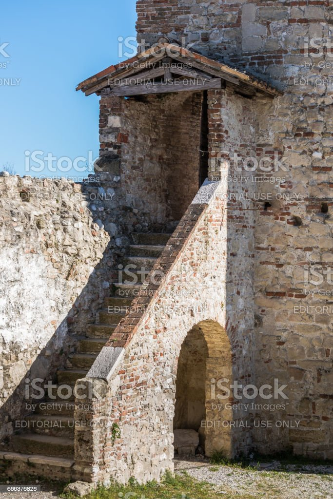 Asolo, Asolo, Castle of the Queen,Duse theater,detailed stock photo