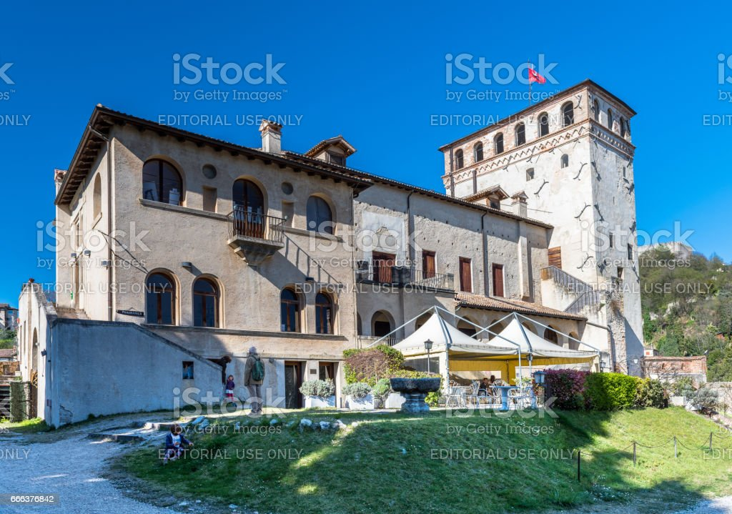 Asolo, Castle of the Queen,Duse theater,view stock photo