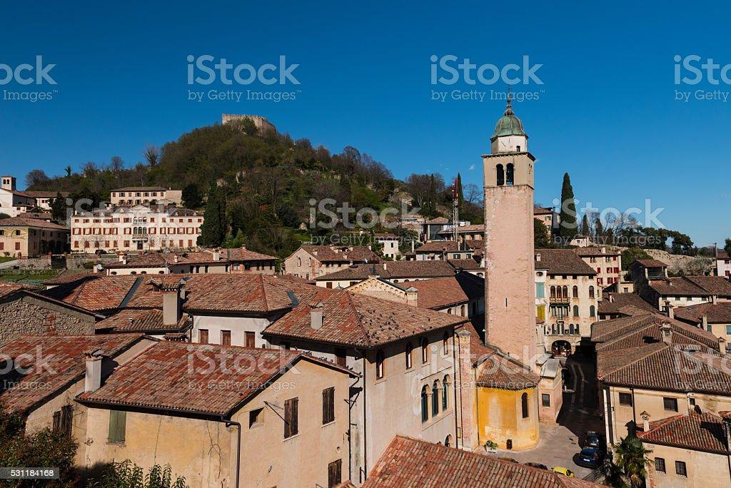 Asolo, city view stock photo
