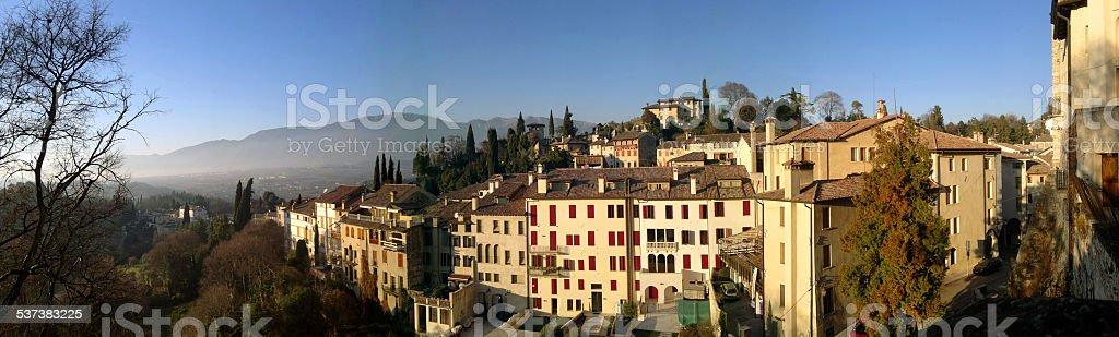 Asolo (Italy) - panorama stock photo