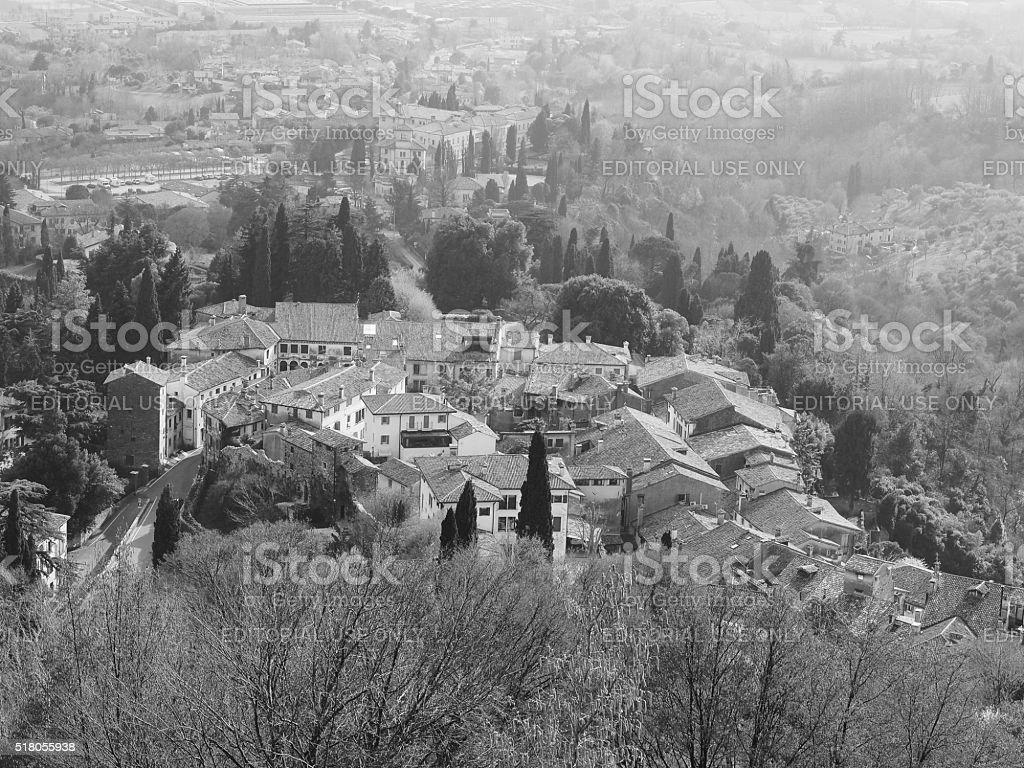 Asolo. panoramic view stock photo