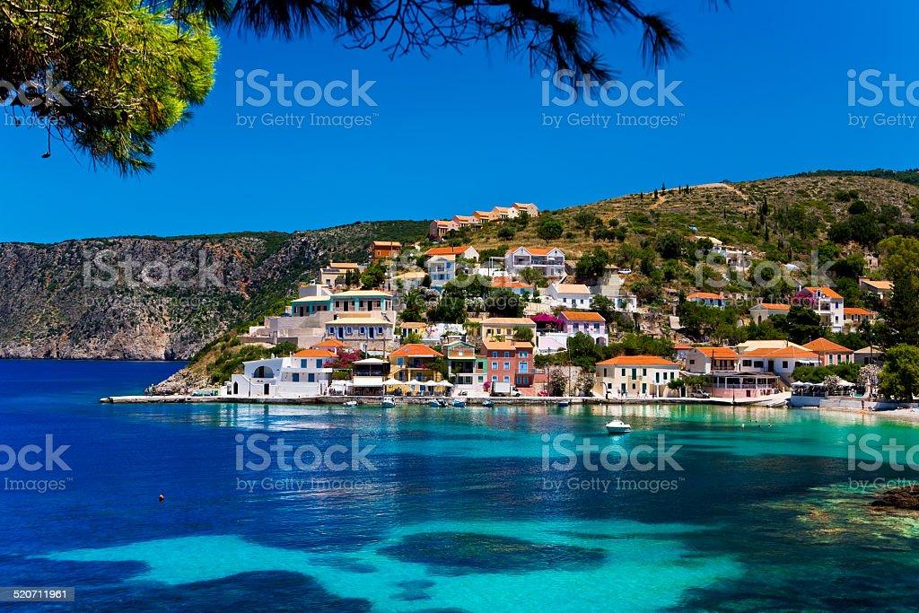 Asos village, Cephalonia stock photo