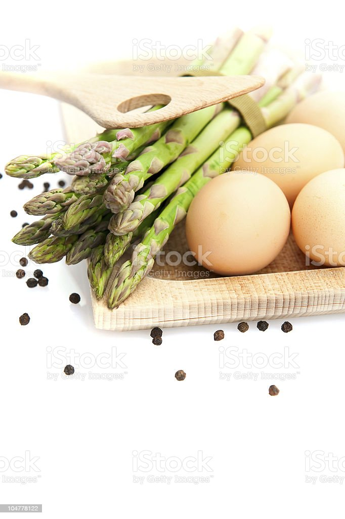 Asparagus and Eggs royalty-free stock photo