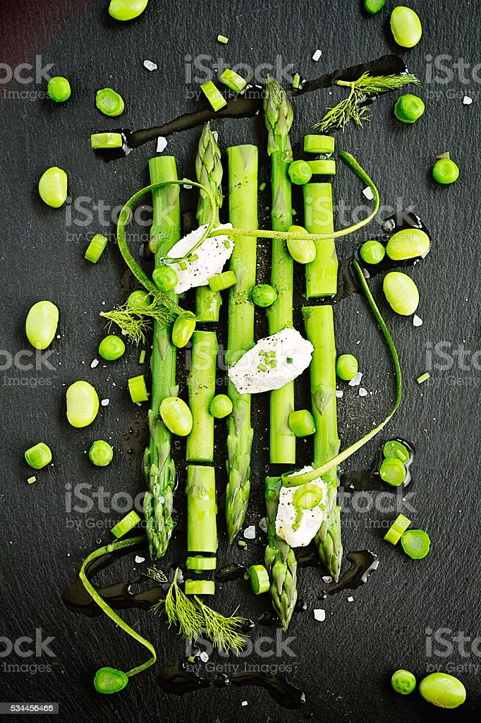 Asparagus and green vegetables stock photo