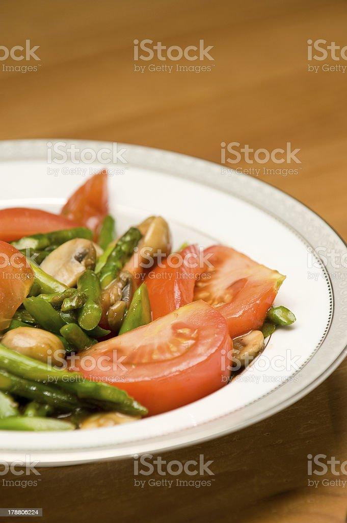 Asparagus and Tomato Stir Fry royalty-free stock photo