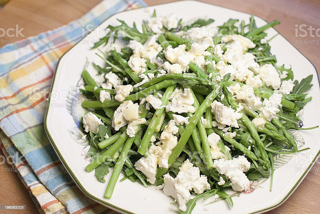 Asparagus & arugula salat royalty-free stock photo
