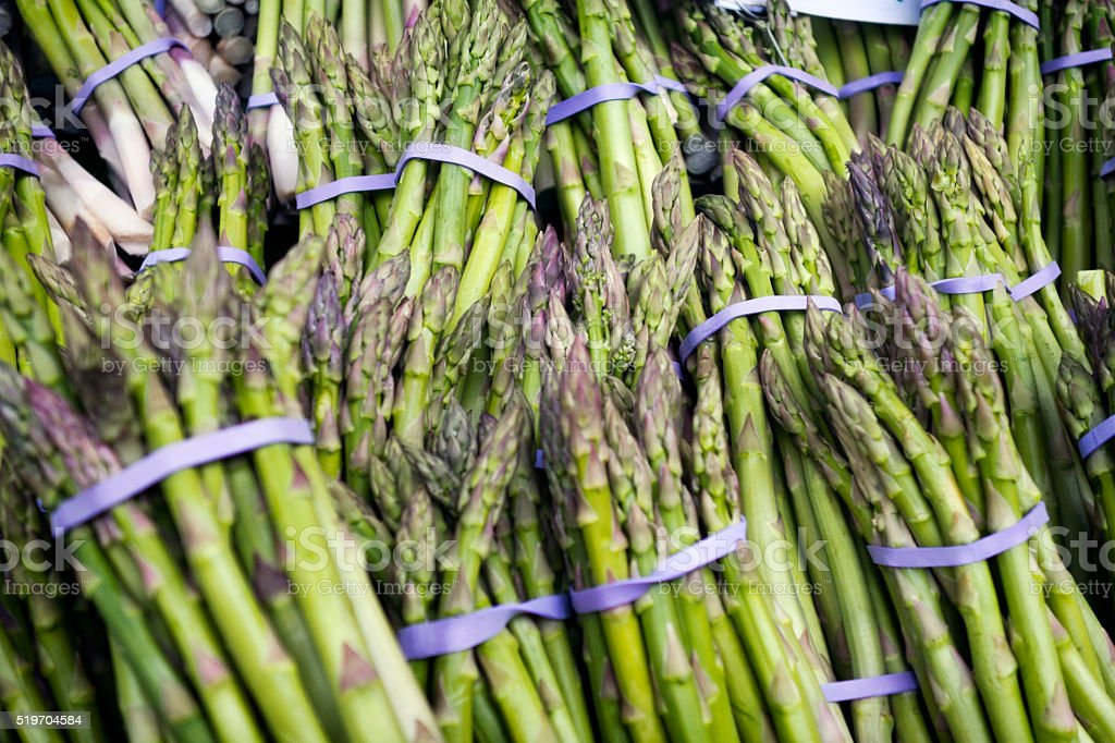 Asparagus background stock photo