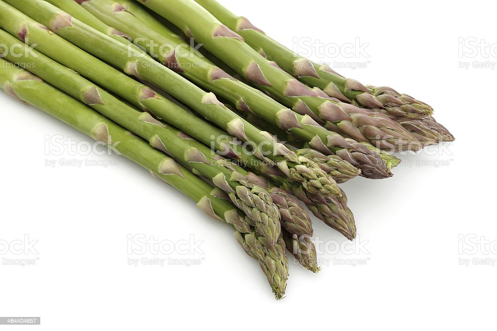 Asparagus bunch. stock photo