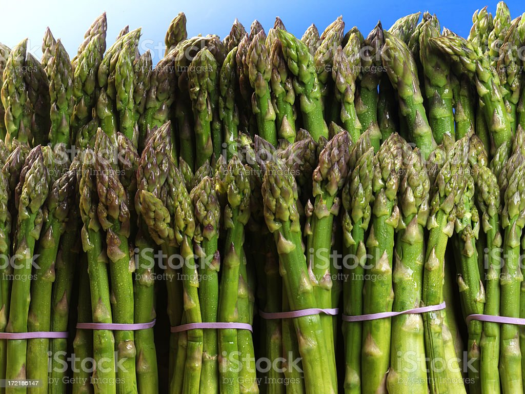 Asparagus Bundels stock photo