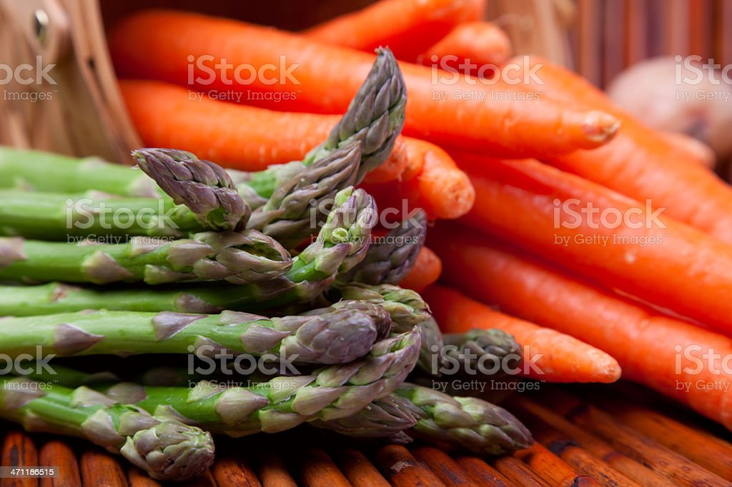 Asparagus & Carrots royalty-free stock photo