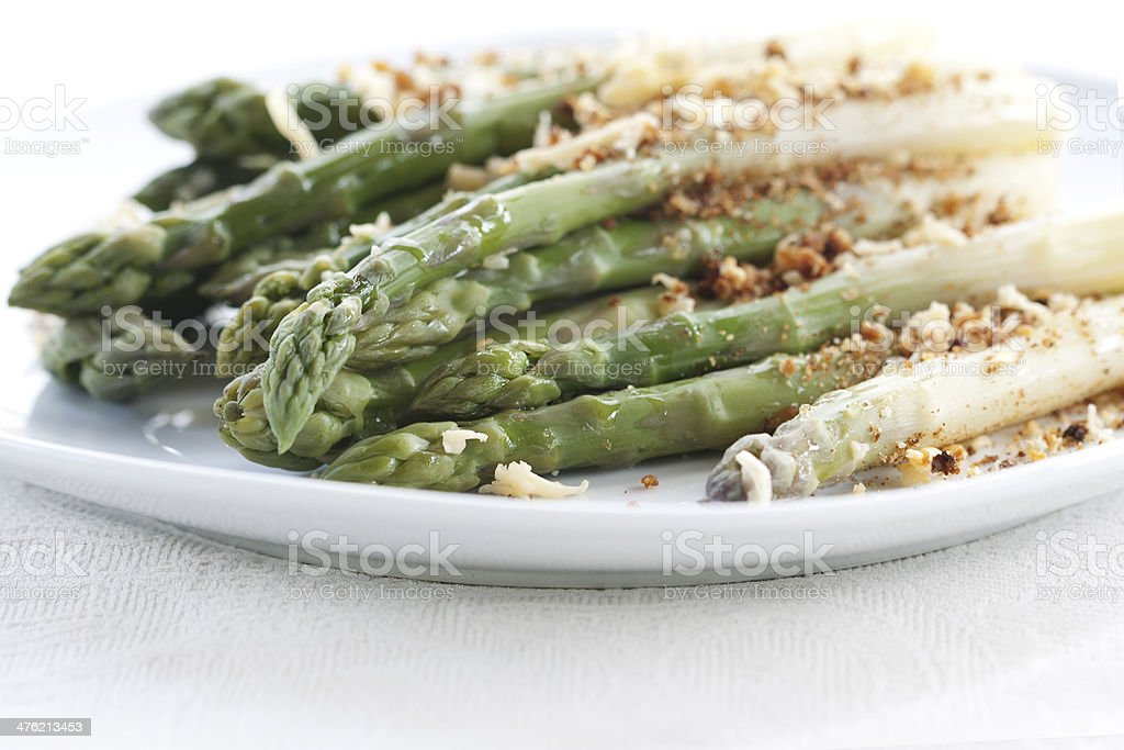 Asparagus gratin royalty-free stock photo