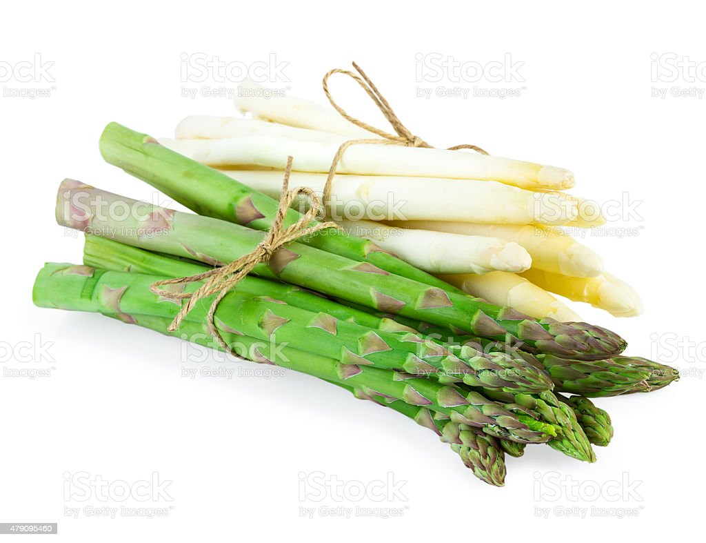 Asparagus Green and White stock photo