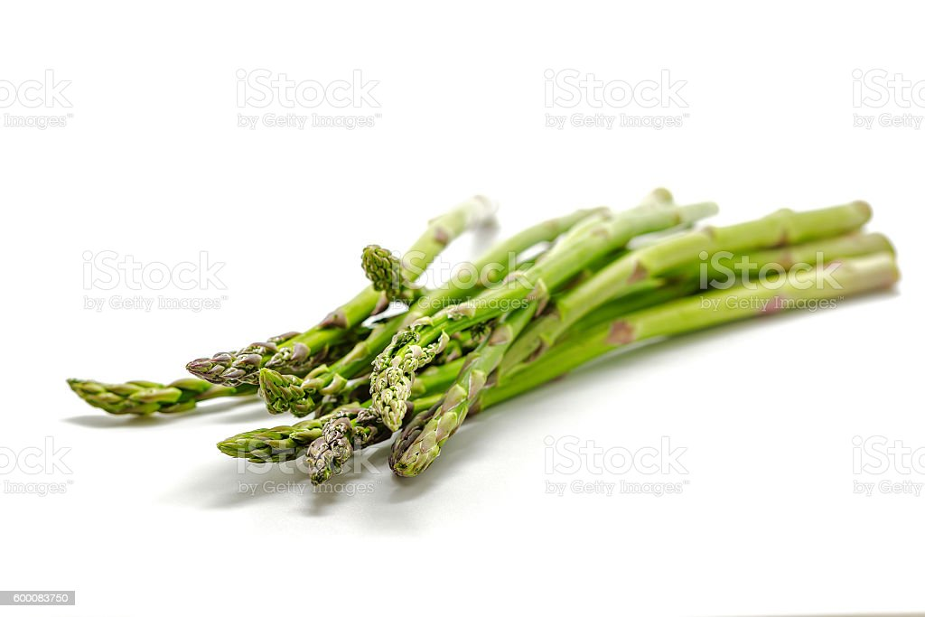 Asparagus isolated on a white background stock photo