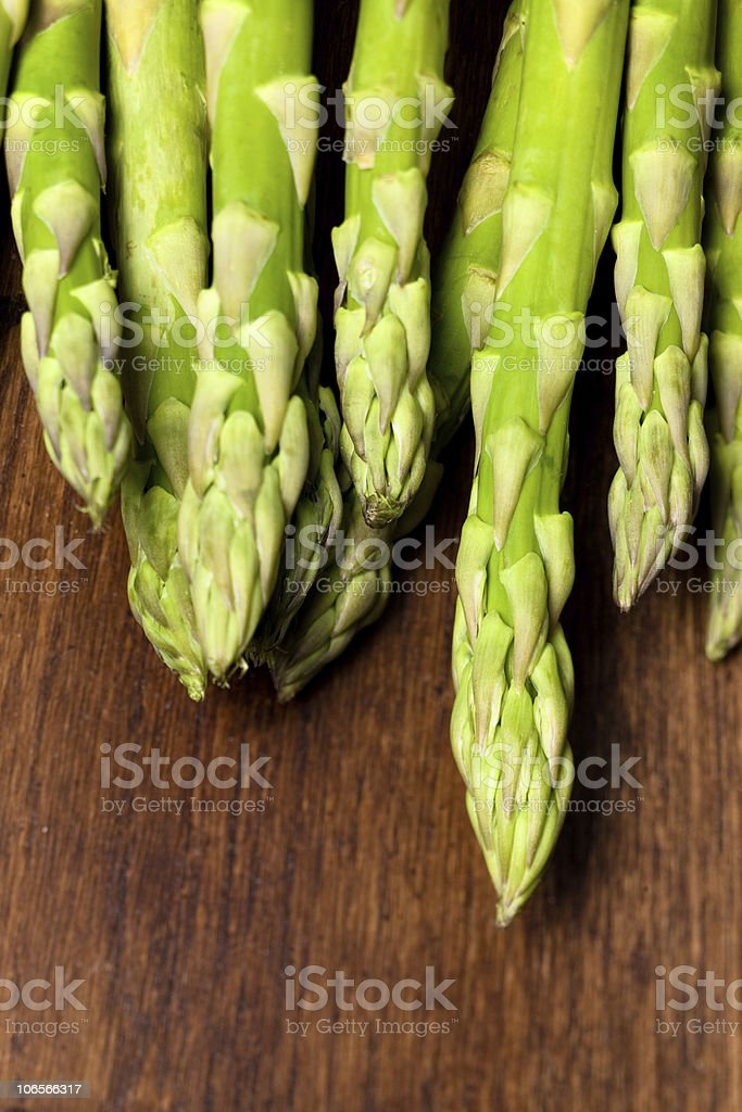 asparagus lineup royalty-free stock photo