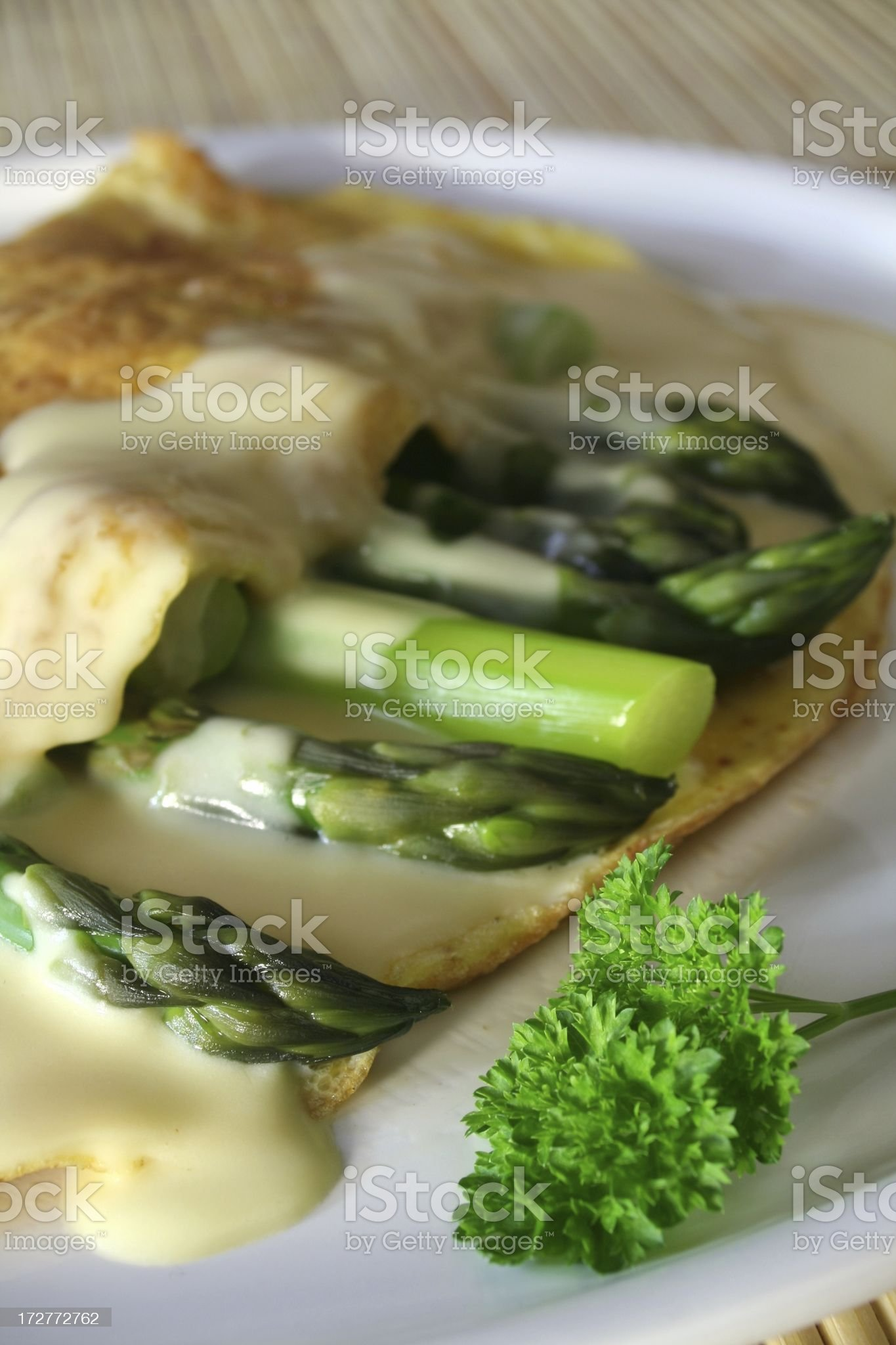 Asparagus Omelet royalty-free stock photo